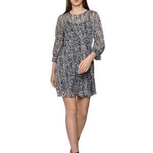 NEW $445 Reiss Charlotte Burnout Ditsy-Print Dress